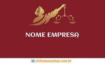 cartão de visita Advogado clássico: deusa e vermelho