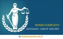 cartão de visita Advogado criativo: deusa e azul com branco