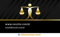 cartão de visita Advogado luxo: balança e preto com dourado