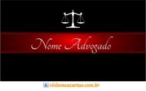 cartão de visita Advogado elegante: balança e preto com vermelho