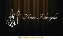 cartão de visita Advogado luxo: deusa e preto com marrom madeira
