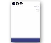 Visite meu cartão | Receituário ou bloco | Apergaminhado | 90g - 4X0 | A4: 30cm x 21cm