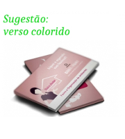 Visite meu cartão | Cartão de Visita | Verniz total frente | 250g - 4X4 Cores | 91mm x 51mm