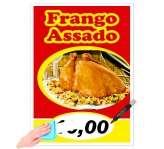 Visite meu cartão | Cartaz | Frango Assado Plastificado | 180G - 4X0 | A3 – 42cm x 30cm