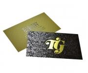 Visite meu cartão | Cartão de Visita | Hot Stamping Couchê Fosco | 300g - 4x4 | 91mm x 51mm