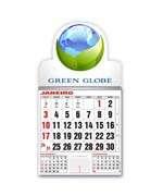 Visite meu cartão   Íma de Geladeira   Corte especial e calendário   300g - 4X0   53mm x 48mm