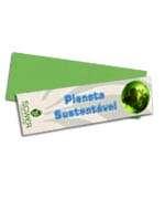 Visite meu cartão | Marcador de página | Reciclato | 250g - 4X4 | 182mm x 51m