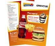 Visite meu cartão | Panfletos 10x21cm | Couchê brilho | 115g - 4X4 | 10cm x 21cm