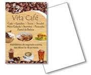 Visite meu cartão | Panfletos 10x21cm | Couchê brilho | 80g - 4X0 | 10cm x 21cm