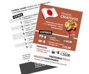 Visite meu cartão | Panfletos 10x21cm | Couchê brilho | 80g - 4X1 | 10cm x 21cm