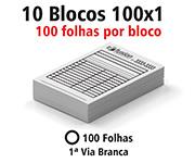 Gráfica Cor | Receituário ou bloco | Papel Apergaminhado 90g | 4X0 - Tons de cinza | 7x10cm
