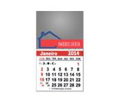 Visite meu cartão | Íma de Geladeira | Quadrado e calendário | 300g - 4X0 | 53mm x 48mm