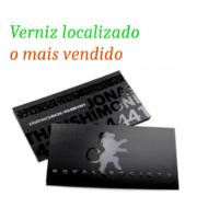 Gráfica Cor | Cartão de Visita | Verniz localizado frente e verso | 300g - 4X4 Cores | 91mm x 51mm