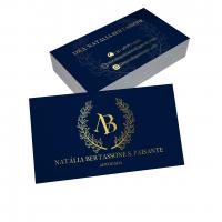 depoimento positivo de Natalia sobre cartão de visita online