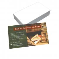 depoimento positivo de Profa. sobre cartão de visita online
