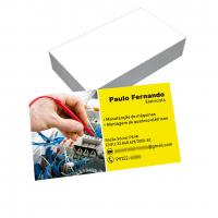 depoimento positivo de Paulo sobre cartão de visita online