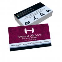 depoimento positivo de Amanda sobre cartão de visita online