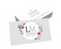 depoimento positivo de Luisa sobre cartão de visita online