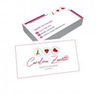 depoimento positivo de Carolina sobre cartão de visita online