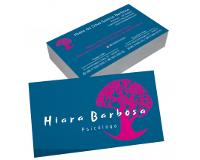depoimento positivo de Hiara sobre cartão de visita online