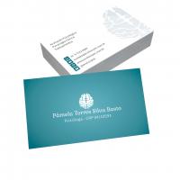 depoimento positivo de Pamela sobre cartão de visita online