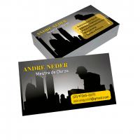 depoimento positivo de Andre sobre cartão de visita online