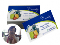 depoimento positivo de Denise sobre cartão de visita online